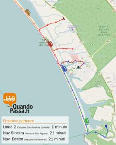 Partenze autobus in tempo reale sulla mappa